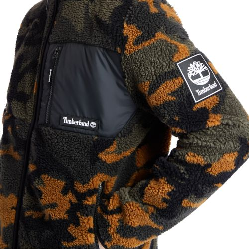 Men's Camo Recycled Fleece Jacket-