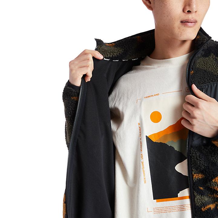 Men's Camo Recycled Fleece Jacket-