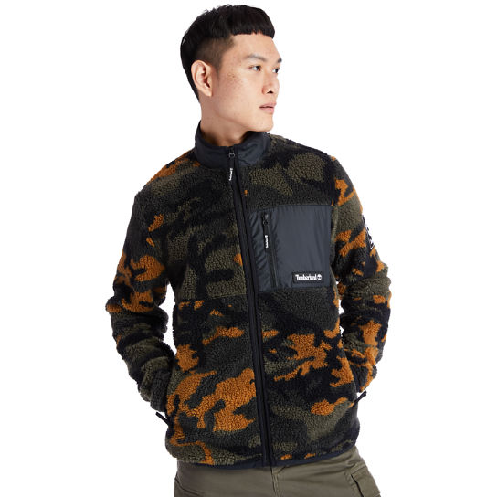 Men's Camo Recycled Fleece Jacket