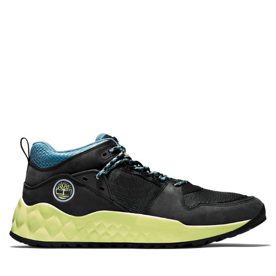 Men's Solar Wave Mixed-Media Sneakers