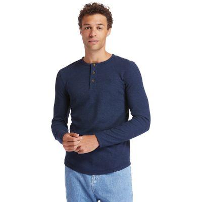 Men's Dyer River Slim-Fit Waffle-Knit Henley Shirt
