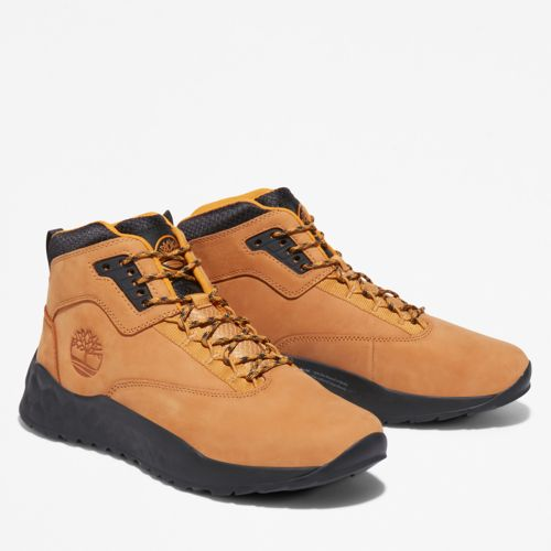 Men's Solar Wave Leather Sneaker Boots-