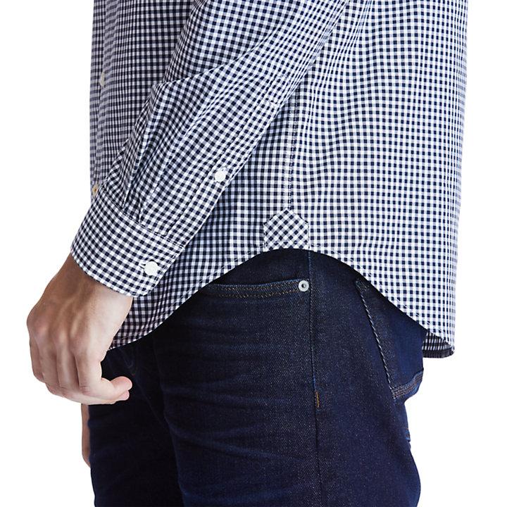 Men's Suncook River Long-Sleeve Poplin Gingham Shirt-