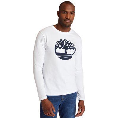 Men's Long Sleeve Tree Logo Ringer T-Shirt