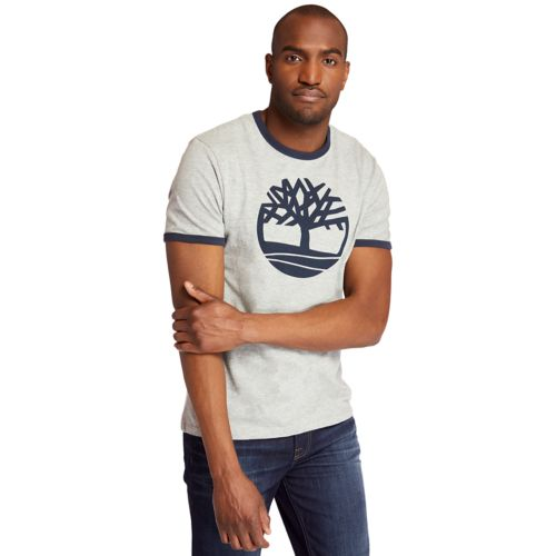 Men's Tree Logo Ringer T-Shirt-