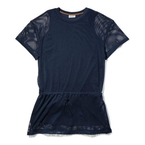 Women's Mesh-Layer Back-Logo Sporty Dress-