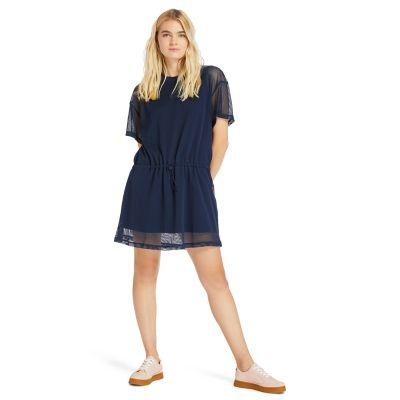 Women's Mesh-Layer Back-Logo Sporty Dress