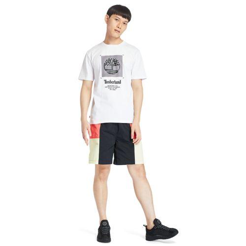 Men's Front-Graphic Box-Cut Tee-