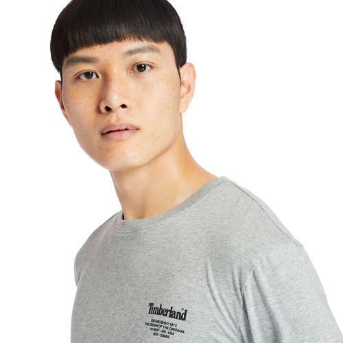 Men's Back-Graphic Long-Sleeve Box-Cut Tee-
