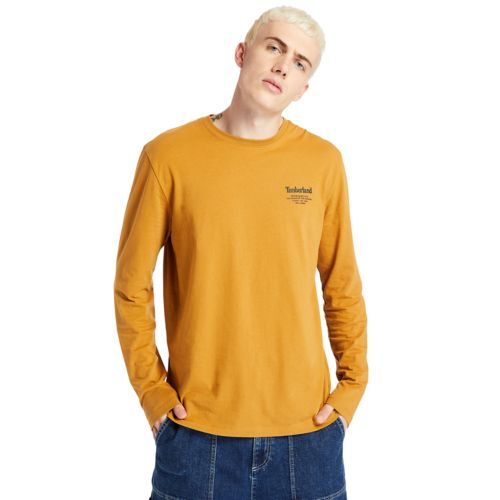 Men's Back-Graphic Long-Sleeve Box-Cut Tee-