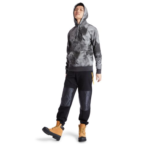 Men's Reflective Printed Pullover Hoodie-