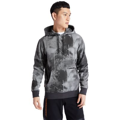 Men's Reflective Printed Pullover Hoodie