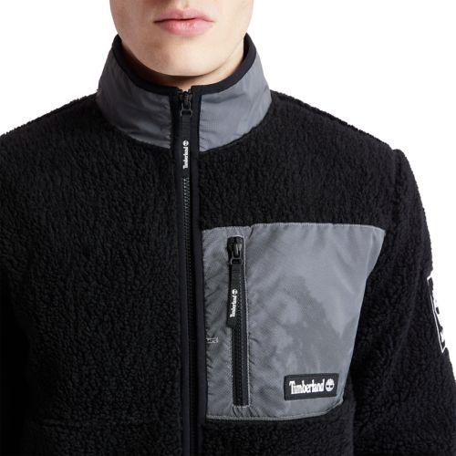 Men's Reflective Faux Shearling Fleece Jacket-