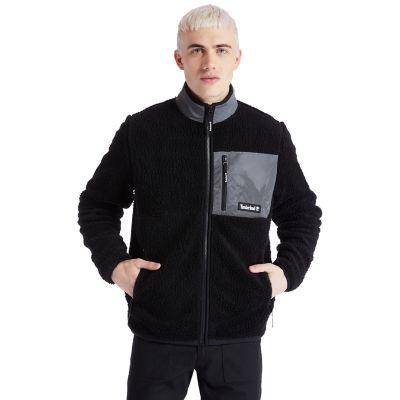 Men's Reflective Faux Shearling Fleece Jacket