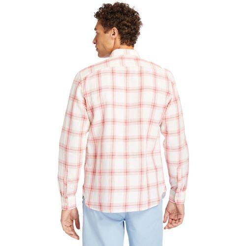 Men's Mill River Linen/Cotton Check Slim Shirt-