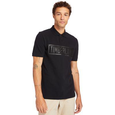 Men's Mink Brook Linear-Logo Polo Shirt