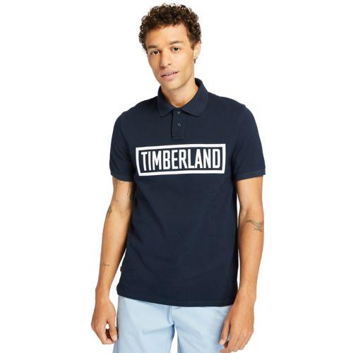 Men's Mink Brook Linear-Logo Polo Shirt-