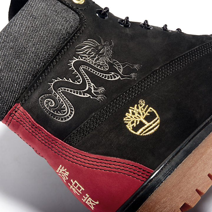 Men's Embossed Dragon 6-Inch Waterproof Boots-