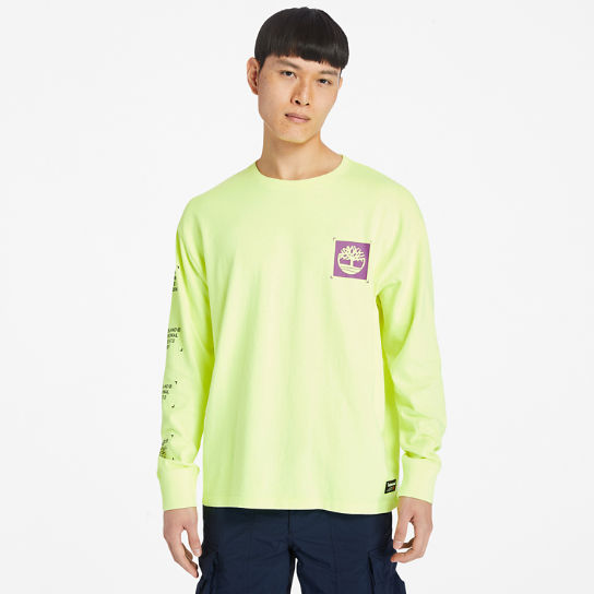 Men's Hi-Vis Garment-Dyed Long-Sleeve Tee