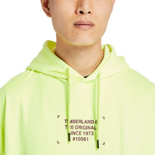 Men's Hi-Vis Garment-Dyed Graphic Hoodie-