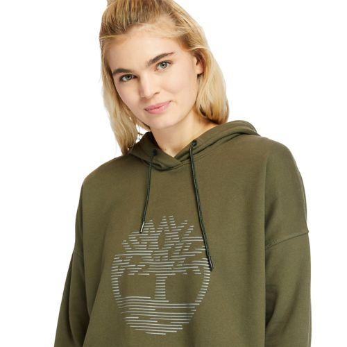 Women's Reflective-Logo Hoodie-