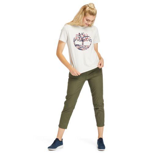 Women's Stippled-Logo Tee-