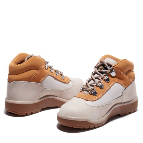 Junior Field Boot Leather/Fabric Mid Hiker Boots-