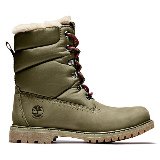 Women's Timberland® Premium 6-Inch Leather/Fabric Waterproof Boots