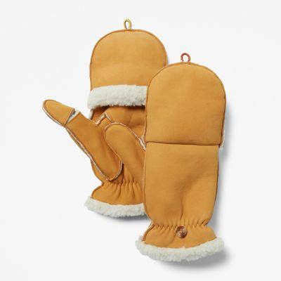 Women's Fleece-Lined Leather Mittens