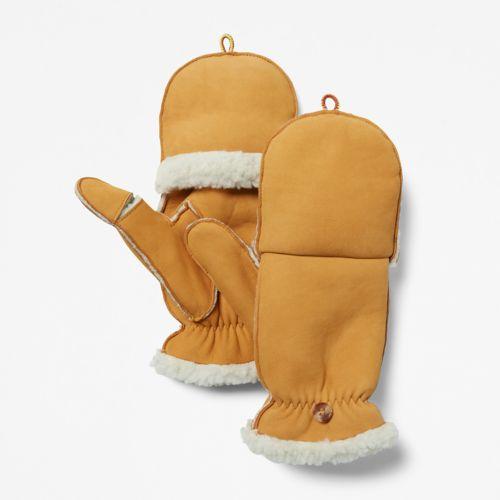 Women's Fleece-Lined Leather Mittens-