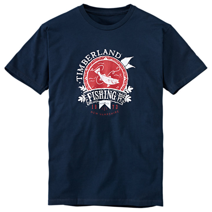 Men's Fishing Graphic T-Shirt-