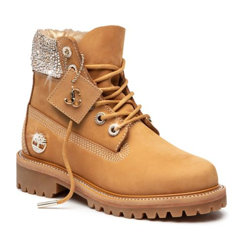 Women's Jimmy Choo x Timberland 6-Inch Crystal Boots-