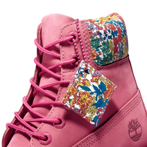Women's Timberland Premium Waterproof 6-inch Boots made with Liberty Fabric-