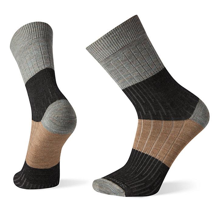 Men's Smartwool® Ribbed Colorblocked Crew Socks-