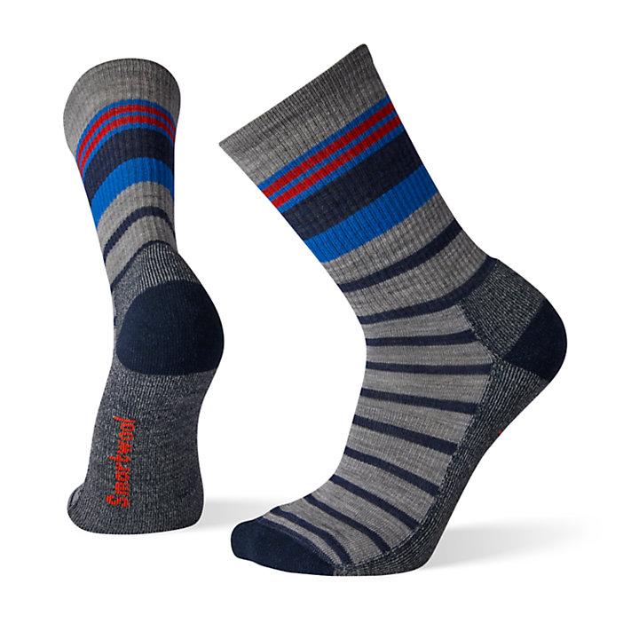Men's Smartwool® Striped Light Hiking Crew Socks-