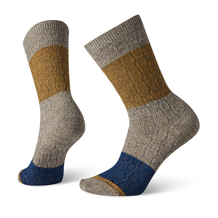 Women's Smartwool® Colorblocked Cable Crew Socks-