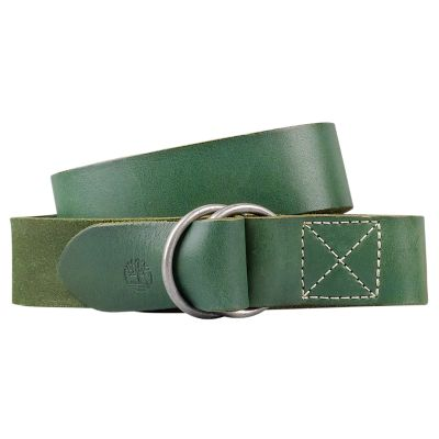 Men's Double O-Ring Leather Belt