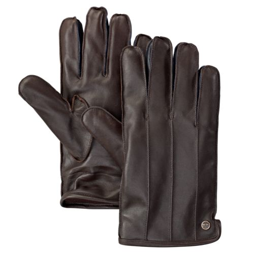 Men's Mile Beach Fleece-Lined Leather Gloves-