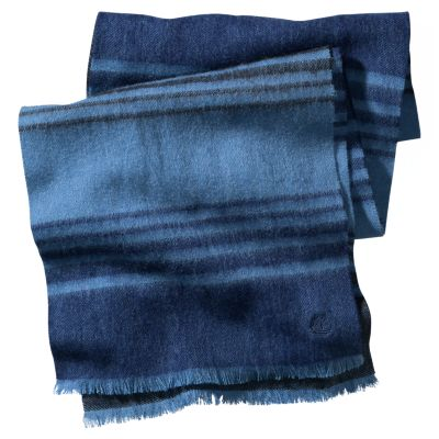 Oyster Beach Wool Blend Striped Scarf