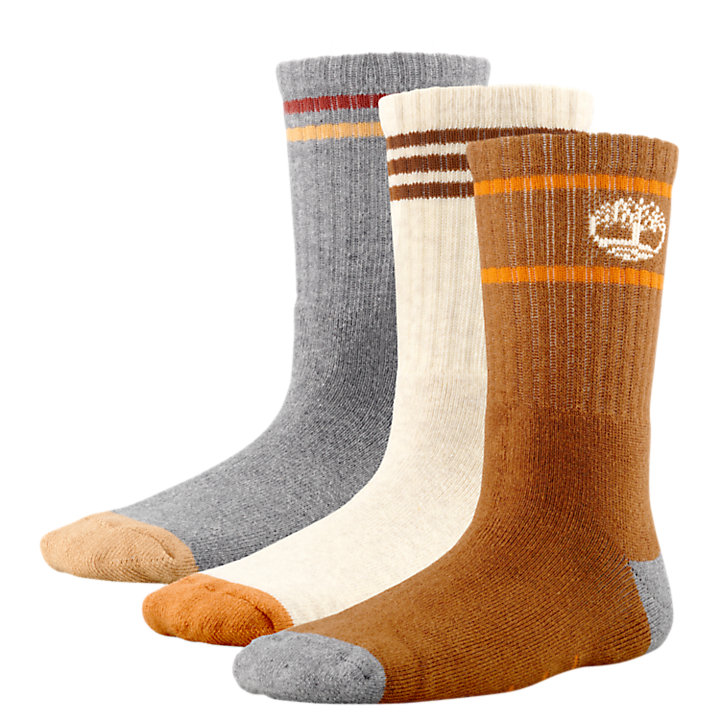 Kids' Cotton Crew Socks (3-Pack)-