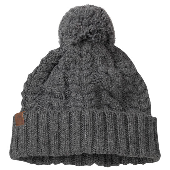 Women's Cable-Knit Pom Hat