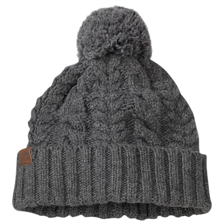 Women's Cable-Knit Pom Hat-