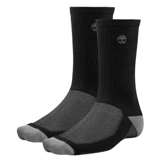 Men's CoolMax® Polyester Crew Socks (2-Pack)