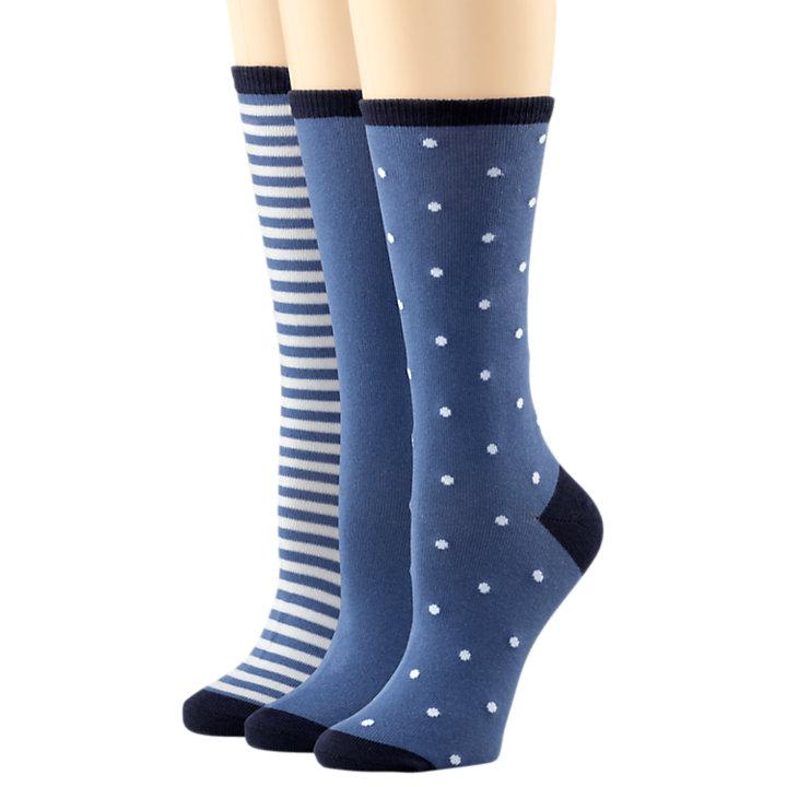 Women's Crew Sock Cotton Blend Variety 3-Pack-