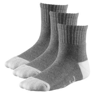 Kids' Basic Cotton Blend Quarter Socks (3-Pack)