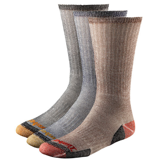 Men's Wool Blend Crew Socks (3-Pack)