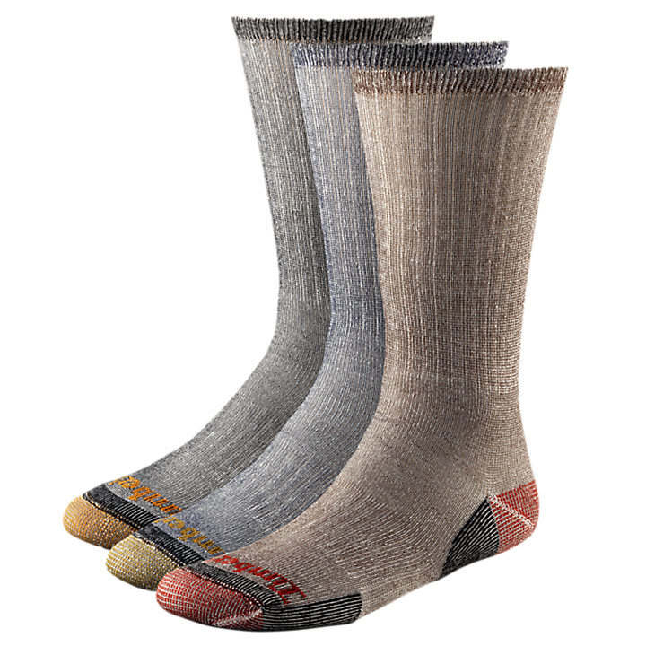 Men's Wool Blend Crew Socks (3-Pack)-