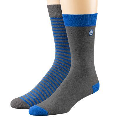 Men's 10-Inch Striped Crew Sock 2-Pack