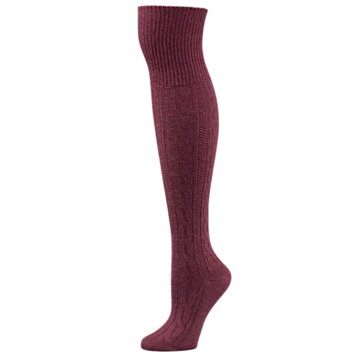 Women's Casual Over-the-Knee Cable-Knit Socks-
