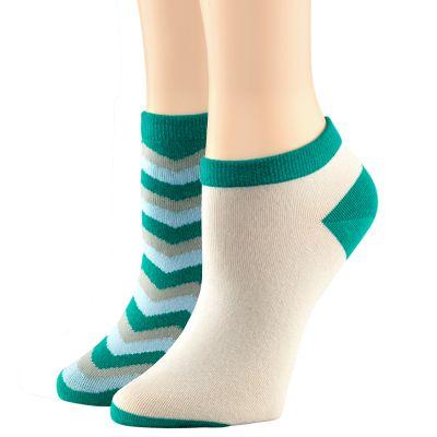 Women's Chevron No-Show Sock 2-Pack